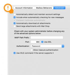 Apple Mail-Accounts